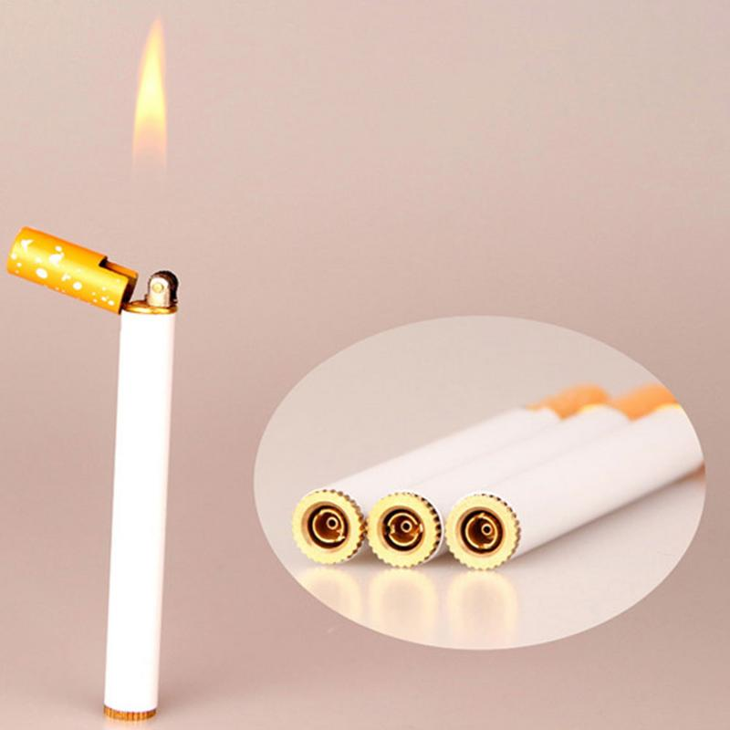 1pcs Mini Lighter Personalized Grinding Wheel Open Flame Lighter Without Liquid Dropshipping