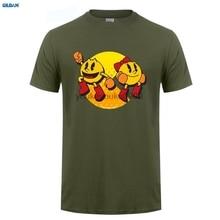 GILDAN  T Shirt Pacman arcade game 80s retro white T-Shirt men t shirt Tops Tees