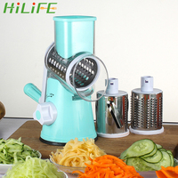 HILIFE Multi function Manual Rotating Grater Potato Carrot Chopper Kitchen Gadget Vegetable Fruit Cheese Cutter Slicer