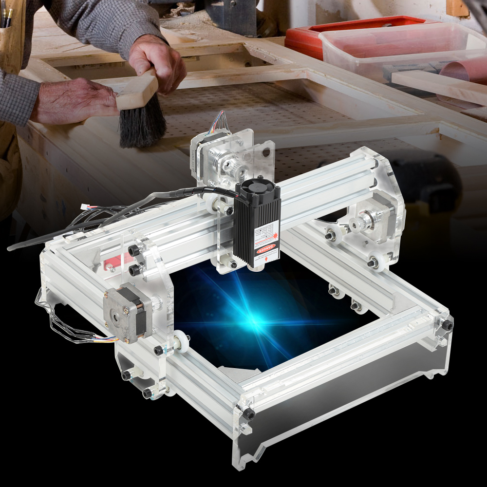 20 X 17cm 3000MW Laser Engraving Machine DIY Kit Carving Instrument With US Plug20 X 17cm 3000MW Laser Engraving Machine DIY Kit Carving Instrument With US Plug