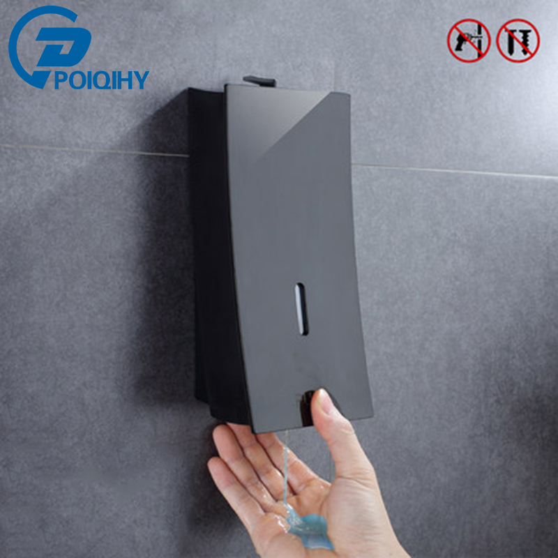 POIQIHY Liquid Soap Dispenser Automatic Push Switch Kitchen Sink Liquid Soap Dispenser