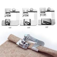 1 Pza máquina de coser doméstica prensadora de pies enrollados dobladillo Set para Brother Singer accesorios de costura 3 tamaños