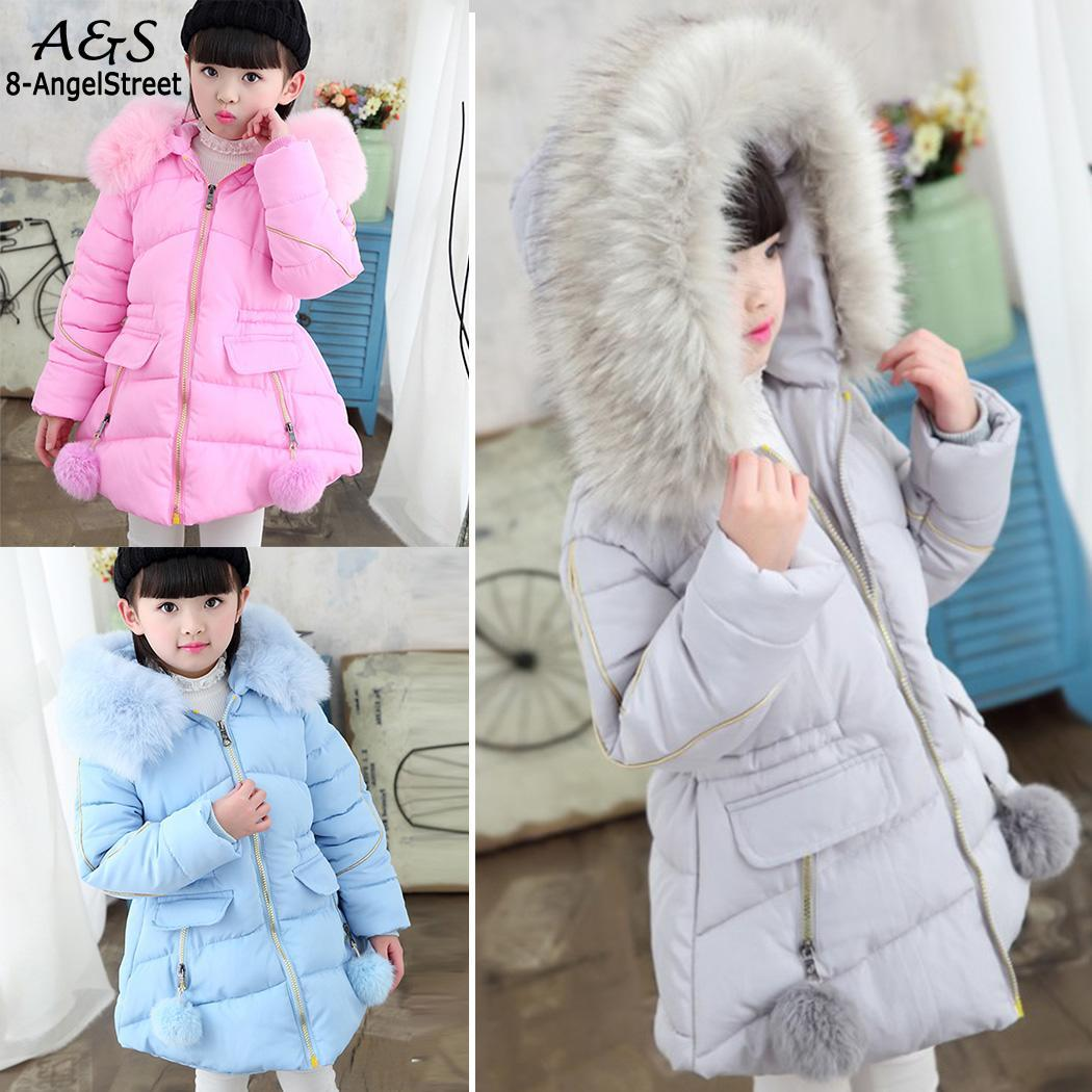 baby winter baby Solid Girls Sleeve Hooded girl Coat New girls jacket coat Outwear Thicken girl Winter Long Girl's Cute Kids girl winter coat 2017 new kids winter jackets solid long section girls cotton padded jacket thicken warm hooded children outwear