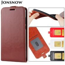 JONSNOW Flip Leather Case for Samsung A7 2018 A750F Phone Cover J6 Plus J4 J415 Cases J7 2017 J3 J330