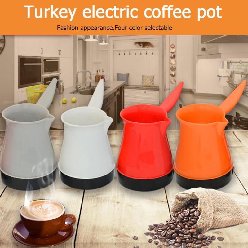 1pc Electric Coffee Pot Stainless Steel Water Kettle 500W Turkish Coffee Maker Stainless Steel Mocha Pot Coffee Maker EU Plug