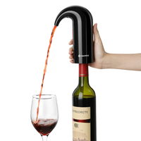 Zanmini Electric Wine Pourer Aerator Dispenser Pump USB Rechargeable Cider Decanter Pourer Wine Accessories Portable Bar Tools
