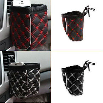 Hot Worldwide Car Storage Pocket Organizer Bag For Mobile Phone Holder Auto Pouch Adhesive Visor Box Car Accessories image