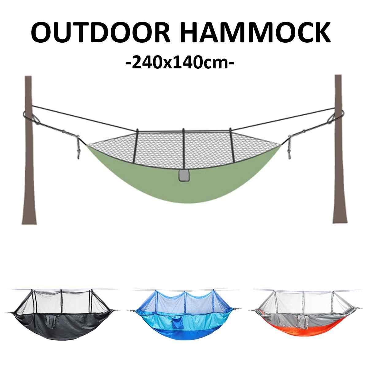 Открытый двойной 2 гамак палатка для кемпинга висячая Свинг кровать с гамак с сеткой от насекомых для двора сада дома семьи забавные игрушки