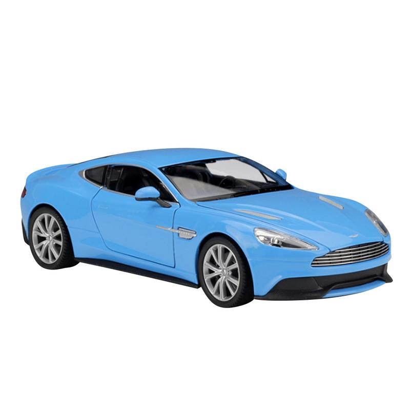 Toys For Children Non remote Control Car Welly Collection 1:24 ForAston Martin Vanquish Die Casting Model Sports Car