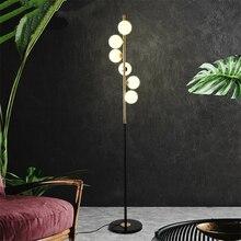 Post-modern Nordic Led Designer Floor Lamps Creative Bubble Glass Decor Standing Lights Living Room Study Bedroom Lamp Fixtures