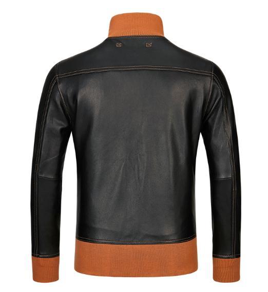 Mouton Cuir Hommes Vêtements Coatthin En De Vintage A1 Jacketsflight Doux Véritable Veste Noir Classique Peau Izq1wzU