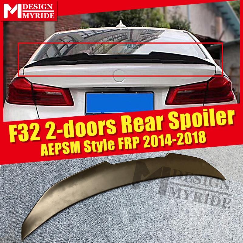 F32  AEPSM style Spoiler FRP Primer black rear For BMW 2-doors 420i 430i 435i 440i trunk wing 2014-18