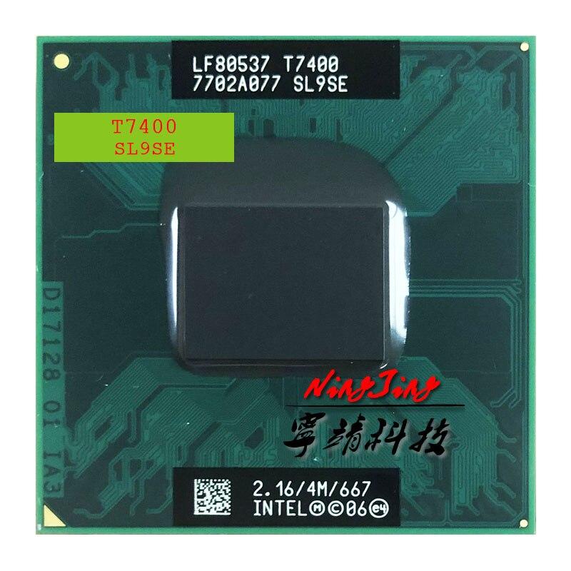 Процессор Intel Core 2 Duo T7400 SL9SE 2,1 ГГц двухъядерный двухпоточный ЦПУ 4 Мб 34 Вт Разъем M / mPGA478MT