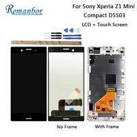 Remanbor For Sony Xperia Z1 Mini Compact D5503 4.3'' LCD Display + Touch Screen For Sony Xperia Z1 Mini Compact + Tools + Tape
