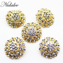 Nidalee 25mm 1 Washable New Shank Rhinestone Embellishments Diy Decoration Metal Button Crafts for clothing 10pcs