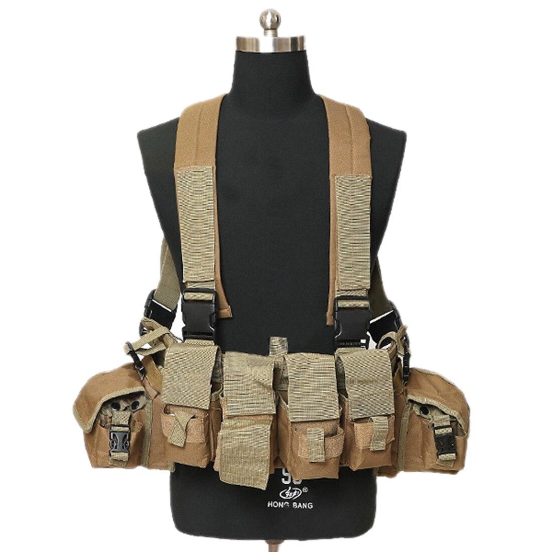 Leal 2019 Alta Calidad Multifunción Táctico Pecho Rig Cintura Cinturón Al Aire Libre Paintball Airsoft Caza Chaleco Bolsa Militar Molle