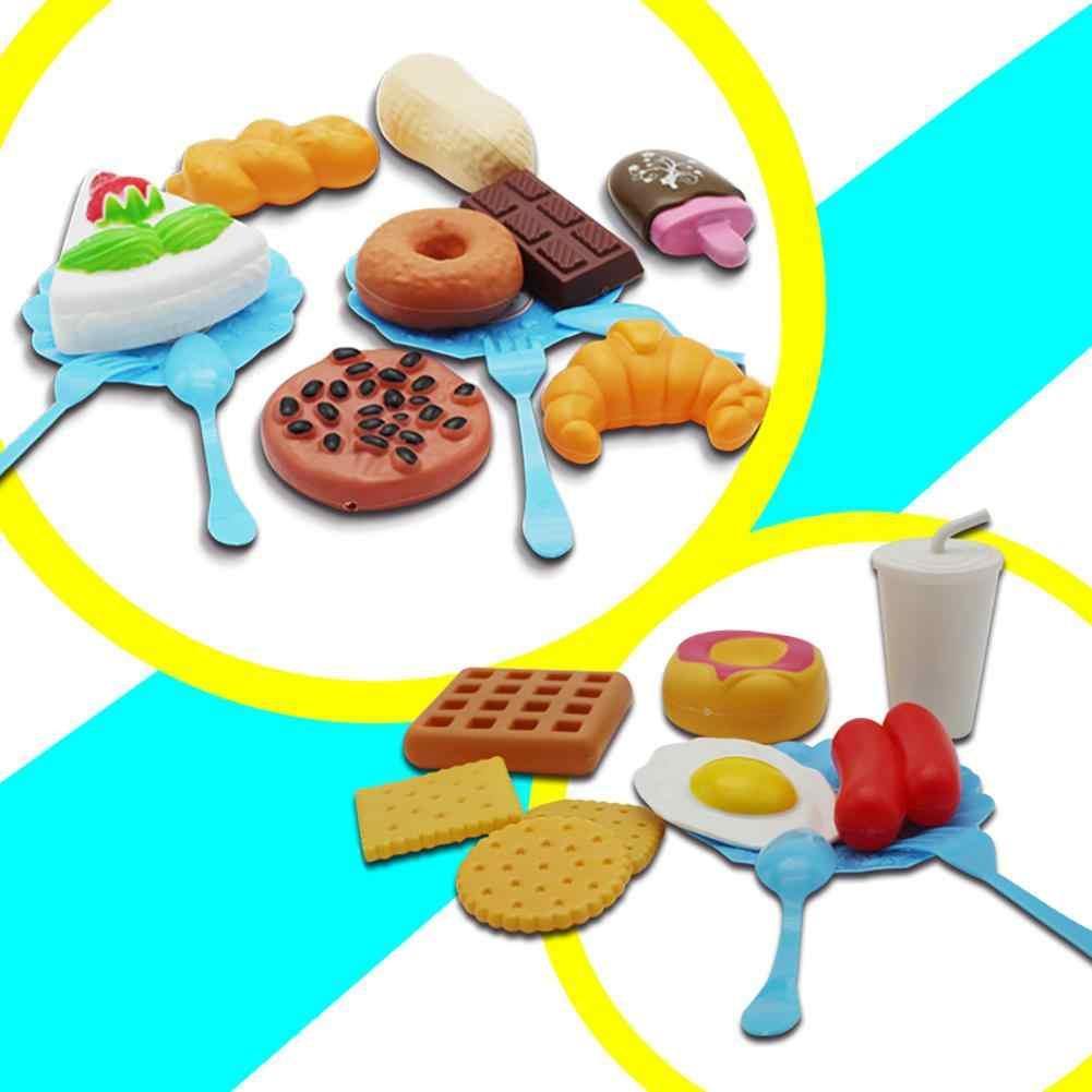 RCtown 34 шт. Детские Кухонные Игрушки для резки фруктов и овощей пластиковый напиток комплект для еды Kat ролевые игры раннее образование игрушки для детей