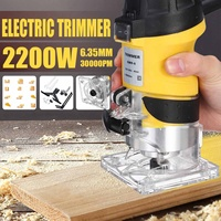 110V /220V 2200W Electric Hand Trimmer Wood Router 6.35mm Woodworking Laminator Carpentry Trimming Cutting Power Tools