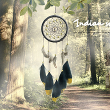 2019 new leather gold powder dream catcher retro handicraft  handmade ethnic style gift pendant birthday lover wedding gift té russ dream lover