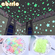 100pcs 3D Fluorescent In The Dark Stars Glow Wall Stickers for Kids Room living room Wall Ceiling Removable Wallpaper Home Decor(China)