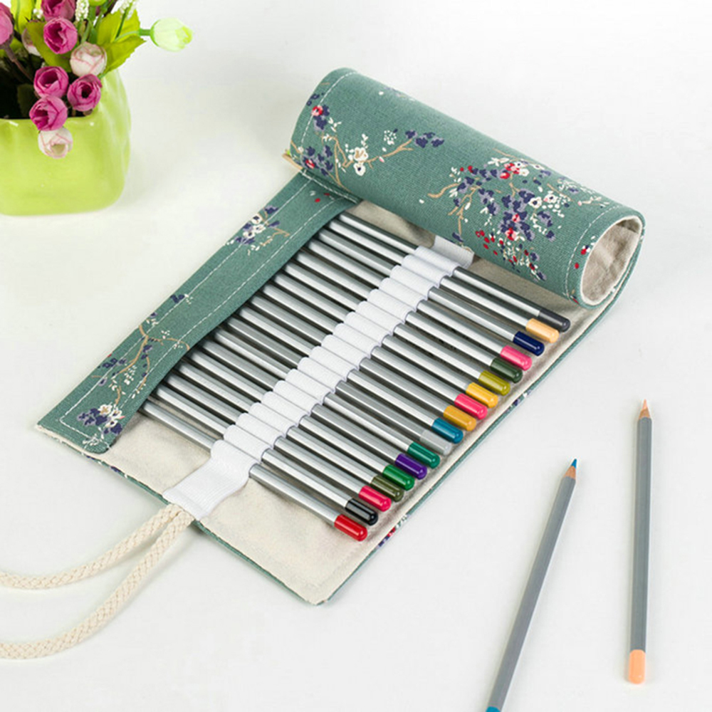 NEW 72Hole Colored Handmade Canvas Pen Roll Up Bag School Pencil Case Art Student Painting Escolar Estuche Stationery AffordableNEW 72Hole Colored Handmade Canvas Pen Roll Up Bag School Pencil Case Art Student Painting Escolar Estuche Stationery Affordable