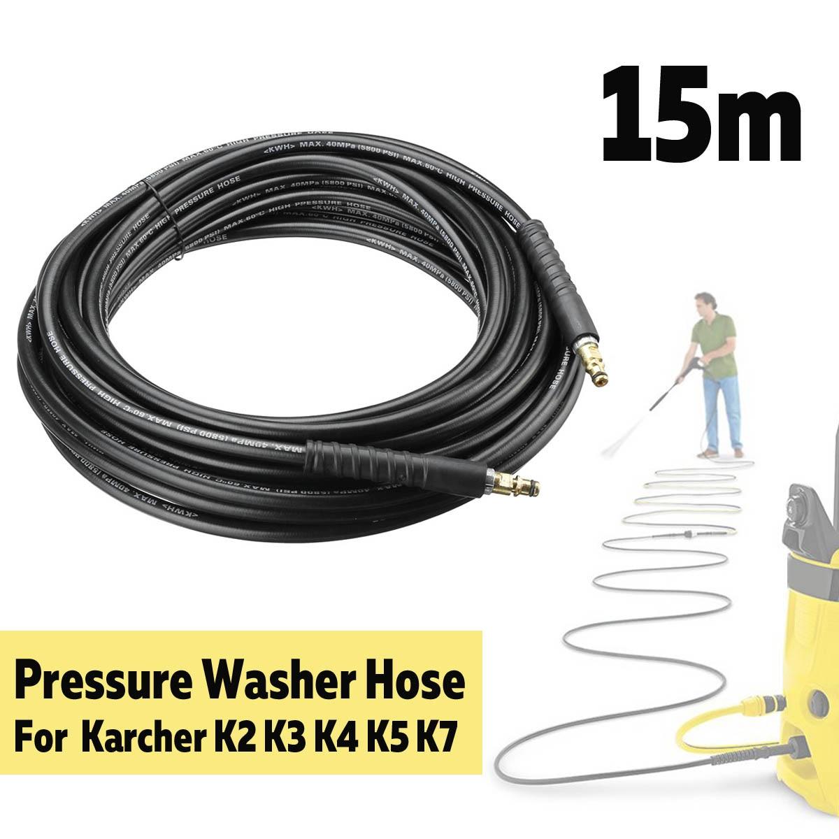 Tuyau de lavage haute pression 15 m 40MPa 5800PSI Tube de nettoyage en cuivre pur cordon de rallonge de lavage de voiture pour Karcher K2 K3 K4 K5 K7Tuyau de lavage haute pression 15 m 40MPa 5800PSI Tube de nettoyage en cuivre pur cordon de rallonge de lavage de voiture pour Karcher K2 K3 K4 K5 K7