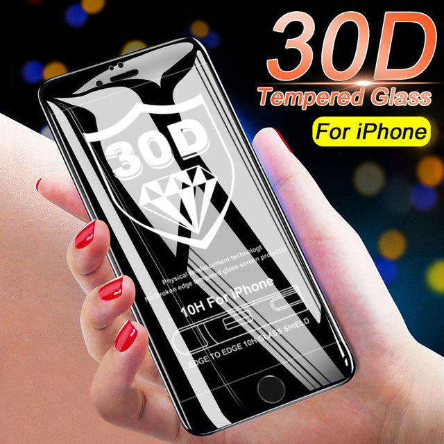 30D protective glass for iPhone 6 6s 7 8 Screen protector glass on for iPhone 7 8 6 plus tempered cover guard glass for iPhone 6