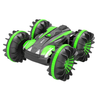 HD 2.4G RC Amphibious Stunt Tumbling Tank Tank Double Sided Car Electric Toys New Year Gift for Children Red/Blue/Green