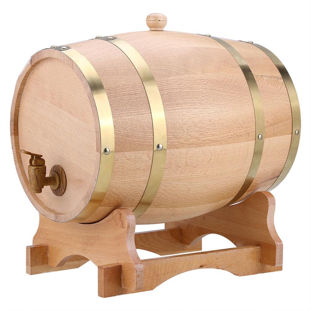 10L Oak Barrels Brewing Decorative Wine Barrel Keg Bucket Brewage Hotel Restaurant Exhibition Display Wooden Oak