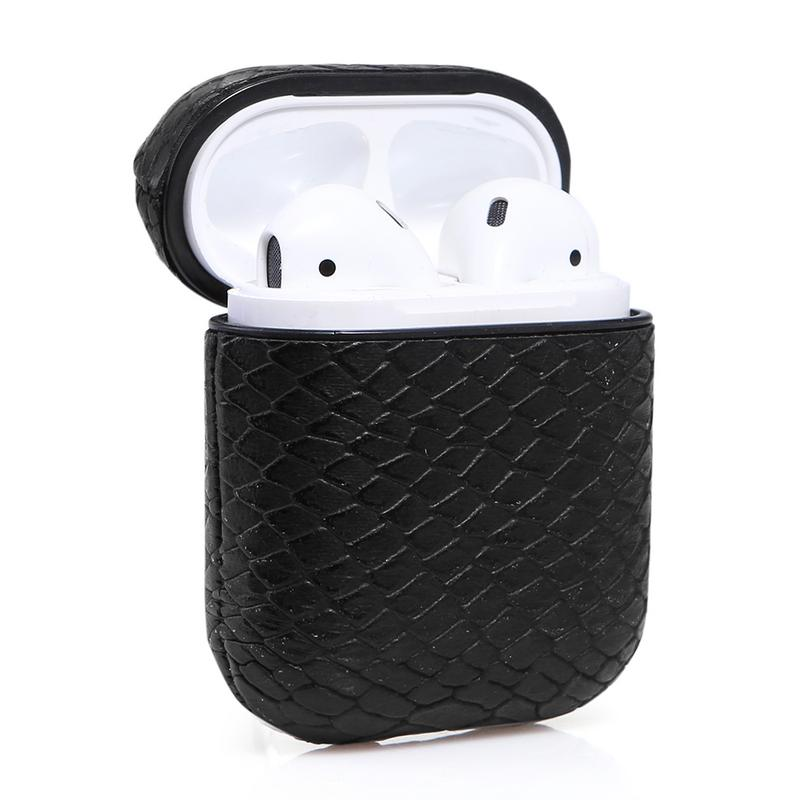 Leather Wireless Bluetooth Storage Box For font b AirPods b font Waterproof Headphone Case Cover Snake