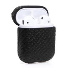 Leather Wireless Bluetooth Storage Box For AirPods Waterproof Headphone Case Cover Snake Belt Hook Shockproof Retro Earbuds Box