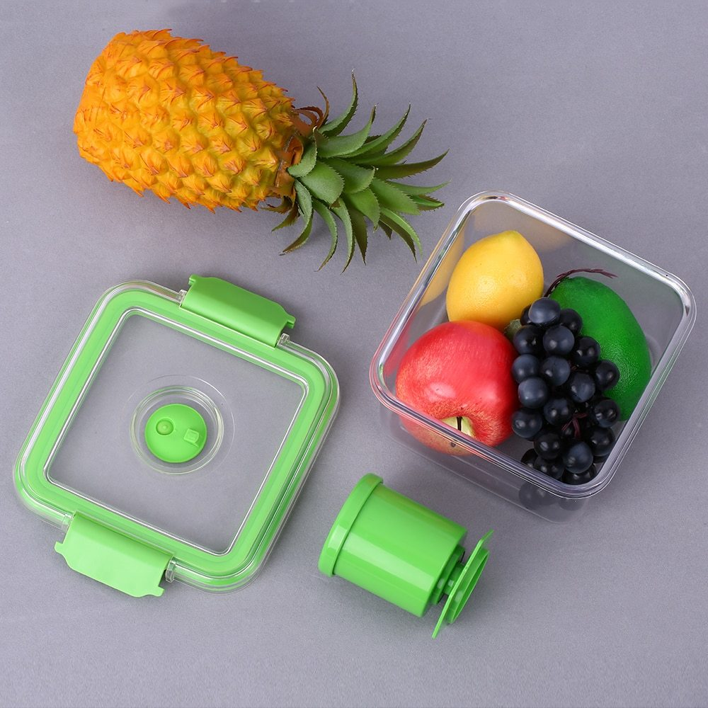 1180ml Food Storage Box with Manual Vacuum Pump BPA Free Vacuum Seal Storage Container Lunch Box Microwave & Diswasher Crisper soccer-specific stadium