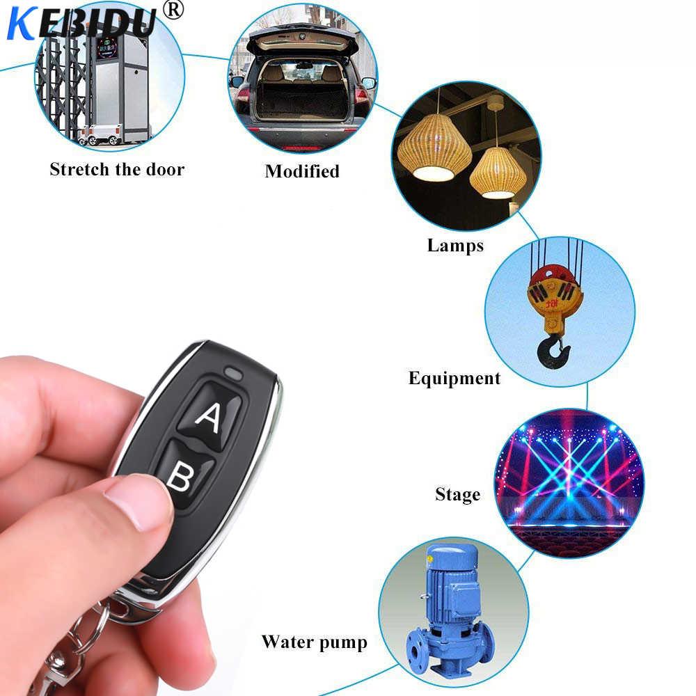 KEBIDU 433 Mhz commutateur de télécommande sans fil universel pour ca 85V 110V 220V 1CH relais récepteur Module RF 433 Mhz télécommandes