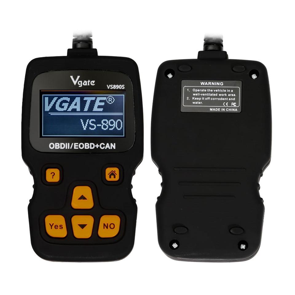 Vgate OBD2 сканер VS890 обновленная версия VGATE VS890S автомобильный считыватель кодов многоязычный OBDII OBD 2 Автомобильные диагностические инструменты...