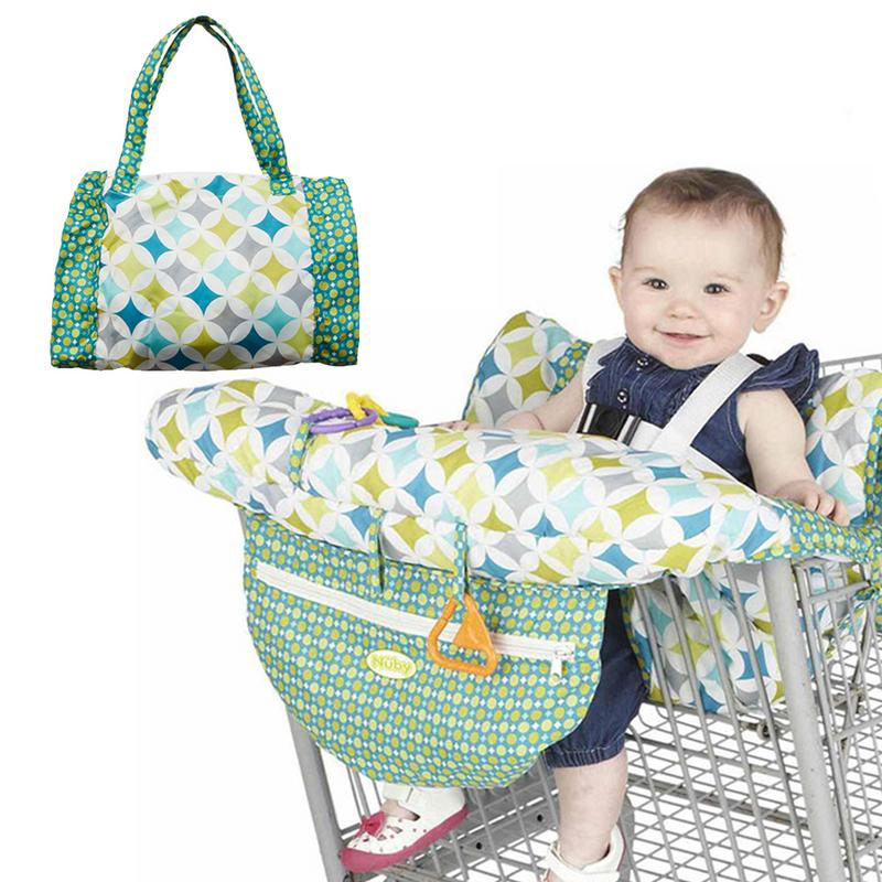 Printed Baby Child Supermarket Trolley Dining Chair Protect Antibacterial Safety Travel Cushion Portable Shopping Cart Cushion