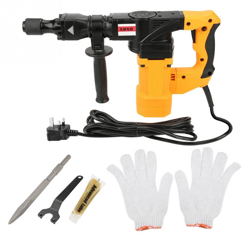 Professional Electric Hammer Drill Brushless Hex Electric Rotary Hammer Drill Household Corded Concrete Demolition Hammer