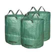 Легкий Садовый пакет для сбора листьев 80 галлонов мешок для мусора 300л сверхмощный большой ящик многоразовый мешок для хранения портативный мешок для переноски пластиковый