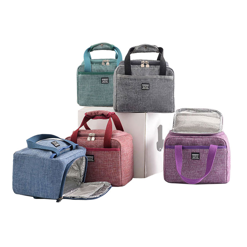 Portabe Insulated Can Holder Thermal Insulated Bag Unisex Aluminum Foil Food Fruit Insulated Cooler Tote Bag