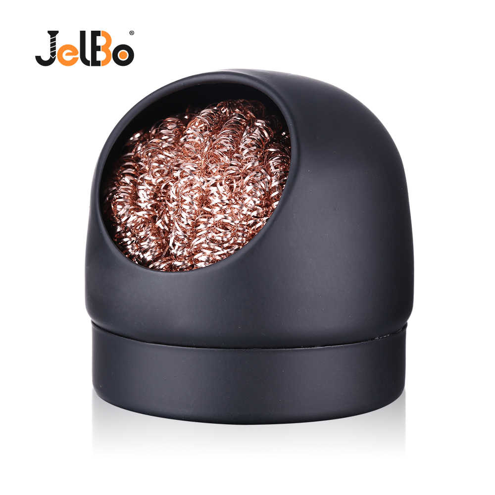 JelBo Wire With Stand Electric Iron Cleaner Set Adaptable Cleaning Repair Quick Tin Removal Soldering Iron Welding Head Tools