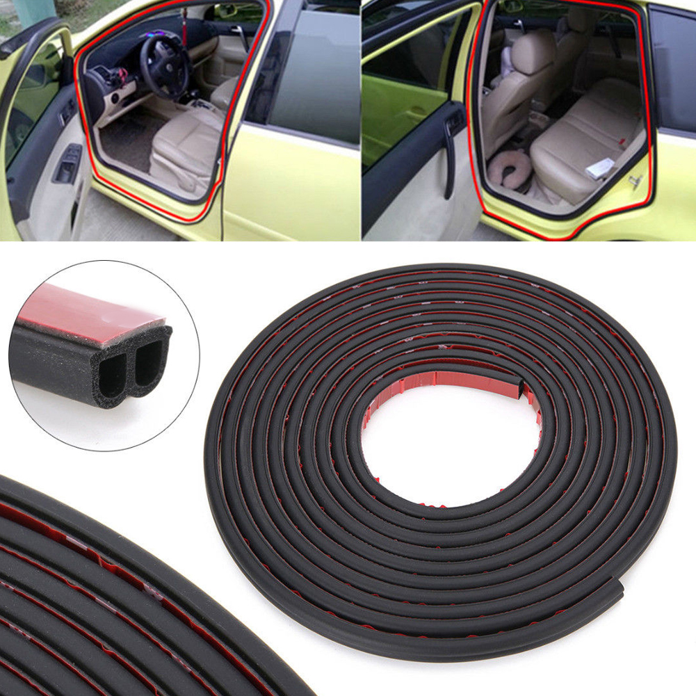 Image 2 - 5m 10m Car Door Edge Seal Strip Waterproof Portable Adhesive Double sided B Shape Moulding Trim Rubber Shock Absorbing Dustproof-in Fillers, Adhesives & Sealants from Automobiles & Motorcycles
