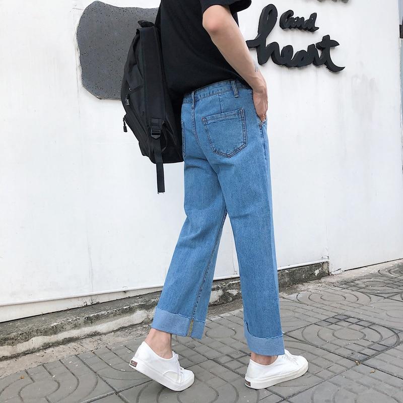866f994e27  BIG SALE  CHEAP 2019 marca de moda Primavera nuevos pantalones vaqueros de  los hombres streetwear de cintura alta ropa de algodón pantalones de los  hombres ...
