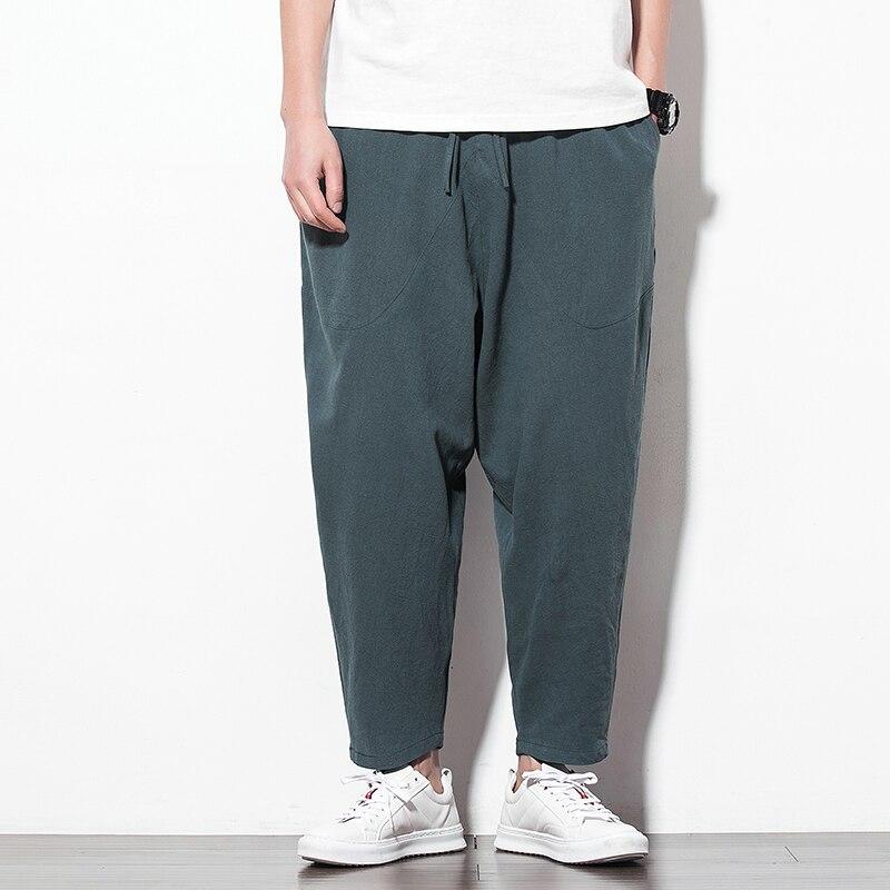 Linen Pants Joggers Hip-Hop Japanese Restore Male Mens Sale Ancient Dance Ways New-Pattern