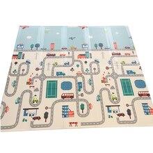 200смx180/150 см XPE детский игровой коврик складной игровой двухсторонний коврик водонепроницаемый толстый Домашний детский коврик-пазл дорожный ковер