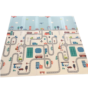 200cmx180/150cm XPE Baby Play Mat Foldable Play Double-sided Mat Waterproof Thick Home Baby Room Puzzle Road Carpet(China)