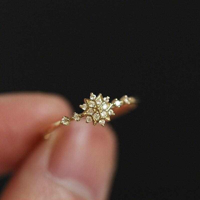 Lovely Woman 14K Gold Snow Diamond Ring Exquisite Peridot Mystic Gemstone Anillos De Bizuteria for Females Jewelry Diamante Ring