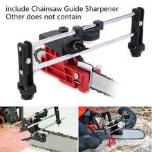 Универсальная точильная пилка, инструмент для наполнения цепи, направляющая цепной пилы, точилка, новая направляющая, стальная подача, инструмент для заточки, инструкция