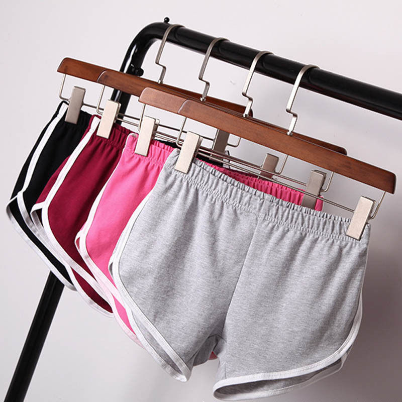 2018 Best Selling Summer Women Casual Cotton Cozy Multi Solid Elastic Waist Sports   Shorts   Gym Workout   Shorts