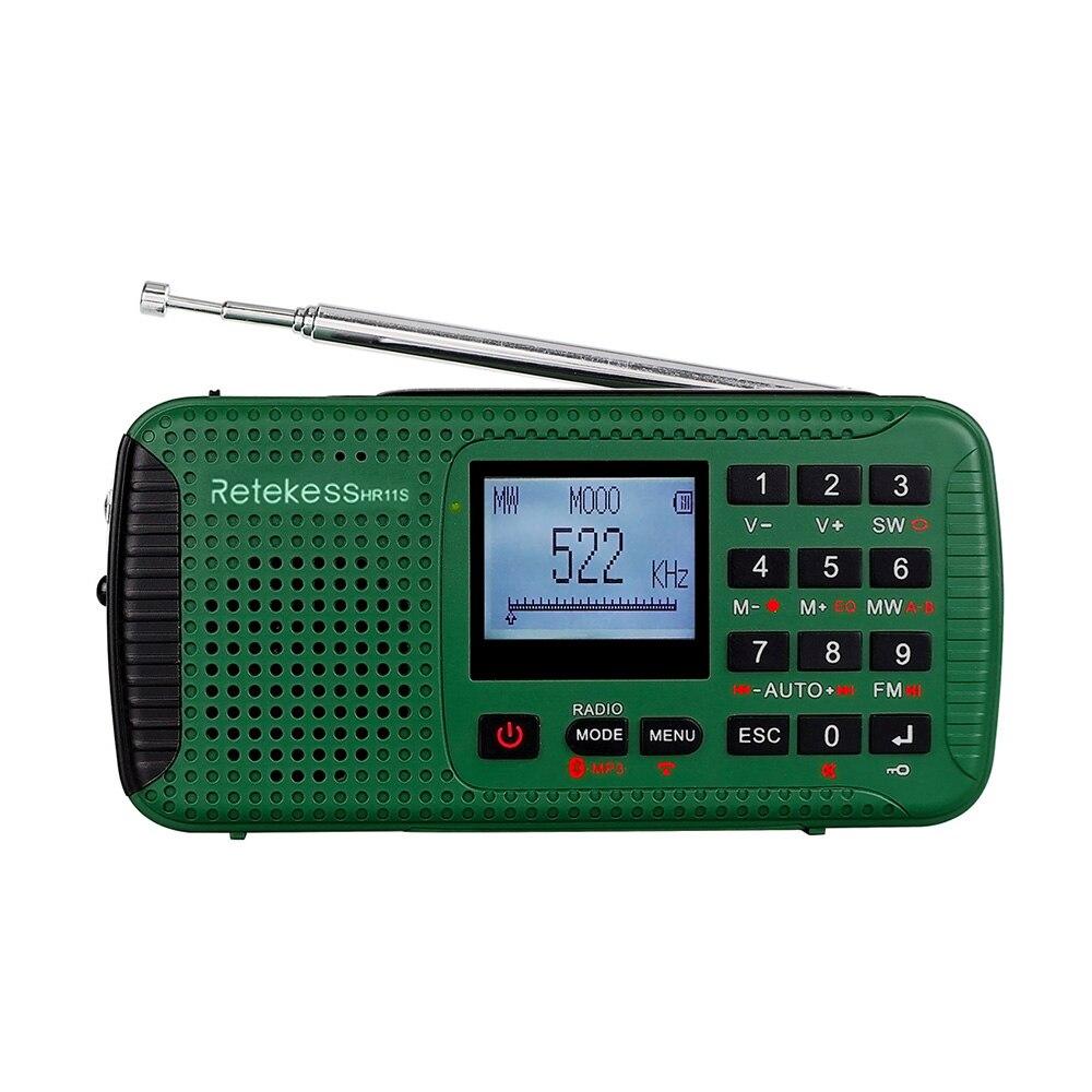 Sanft Retekess Hr-11s Digital Radio Fm/mw/sw Multi-band Notfall Radio Outdoor Bluetooth Mp3 Recorder Unterstützung Aux-in Tf Karte Usb Spielen Feines Handwerk Radio