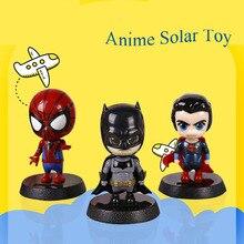 Милое горячее солнечное изображение танцующих фигурок Marvel Бэтмен Treeman цельный качающийся поплавок танцор солнечные игрушки украшение автомобиля подарок