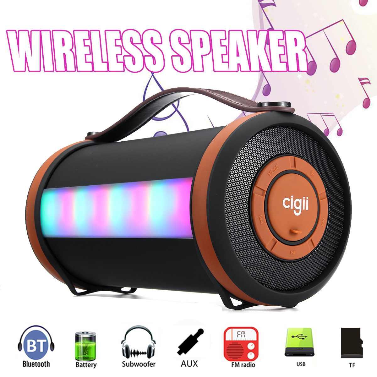 4''Tweeter sans fil LED haut-parleur bluetooth Portable stéréo basse Subwoofer rvb lumières haut-parleurs pour PC USB AUX TF haut-parleur extérieur